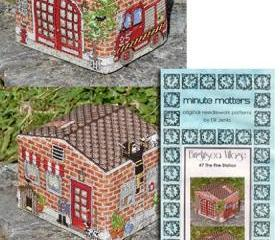 Fire Station Cross Stitch Pattern 3D BrightSea Village #7